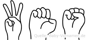 Wes in Fingersprache für Gehörlose