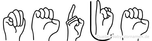 Medje in Fingersprache für Gehörlose