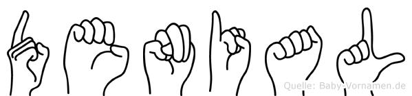 Denial im Fingeralphabet der Deutschen Gebärdensprache