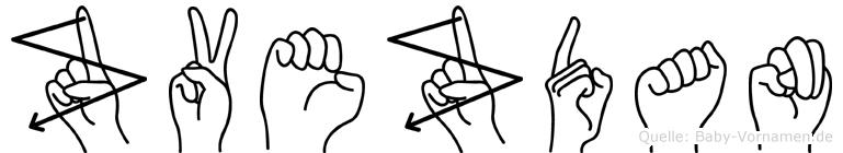 Zvezdan im Fingeralphabet der Deutschen Gebärdensprache