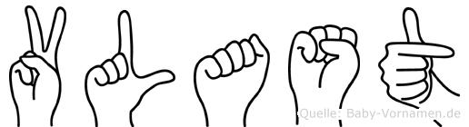 Vlast im Fingeralphabet der Deutschen Gebärdensprache