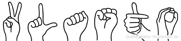Vlasto in Fingersprache für Gehörlose
