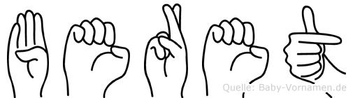 Beret in Fingersprache für Gehörlose