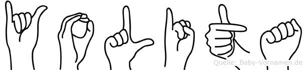 Yolita in Fingersprache für Gehörlose