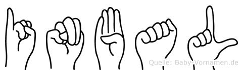 Inbal im Fingeralphabet der Deutschen Gebärdensprache