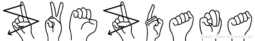 Zvezdana im Fingeralphabet der Deutschen Gebärdensprache