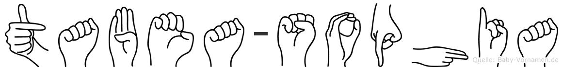 Tabea-Sophia im Fingeralphabet der Deutschen Gebärdensprache