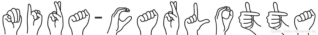 Mira-Carlotta im Fingeralphabet der Deutschen Gebärdensprache