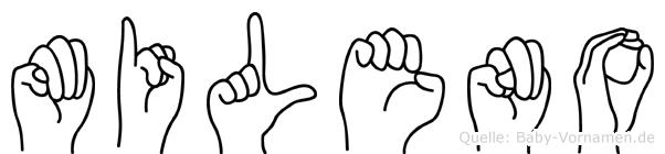 Mileno im Fingeralphabet der Deutschen Gebärdensprache