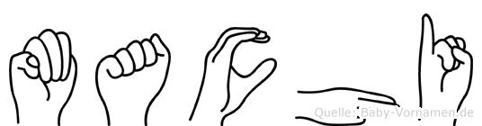 Machi in Fingersprache für Gehörlose