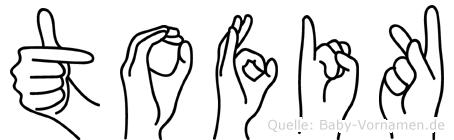 Tofik in Fingersprache für Gehörlose