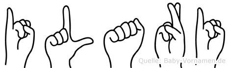 Ilari im Fingeralphabet der Deutschen Gebärdensprache