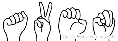 Aven in Fingersprache für Gehörlose