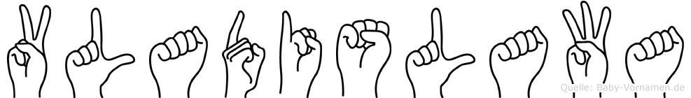 Vladislawa in Fingersprache für Gehörlose