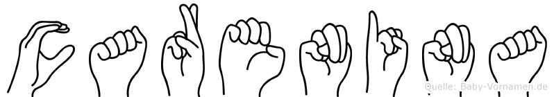 Carenina in Fingersprache für Gehörlose