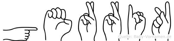 Gerrik im Fingeralphabet der Deutschen Gebärdensprache