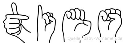 Ties im Fingeralphabet der Deutschen Gebärdensprache