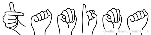 Tamima im Fingeralphabet der Deutschen Gebärdensprache