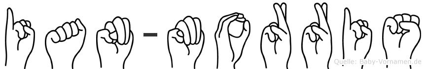 Ian-Morris im Fingeralphabet der Deutschen Gebärdensprache