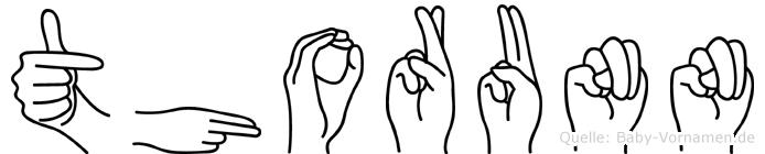 Thorunn in Fingersprache für Gehörlose