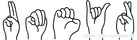 Umeyr in Fingersprache für Gehörlose