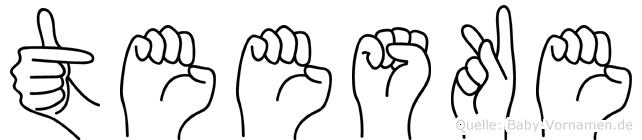 Teeske in Fingersprache für Gehörlose
