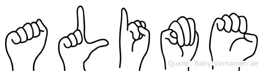 Alime in Fingersprache für Gehörlose