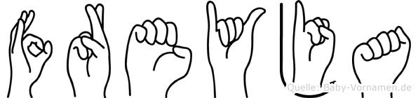 Freyja in Fingersprache für Gehörlose