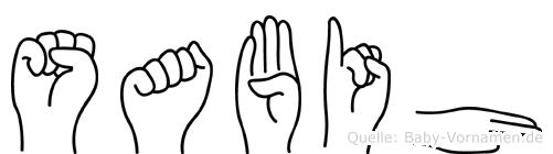 Sabih in Fingersprache für Gehörlose