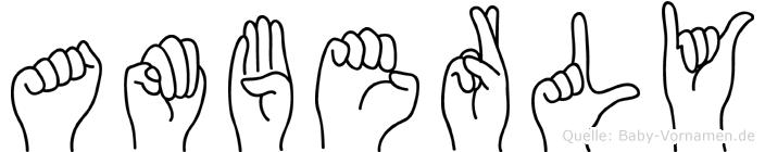 Amberly im Fingeralphabet der Deutschen Gebärdensprache