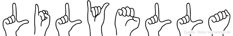 Lilyella in Fingersprache für Gehörlose