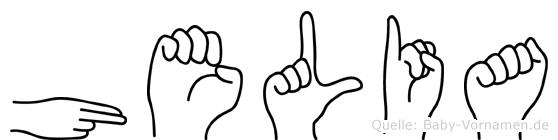 Helia in Fingersprache für Gehörlose