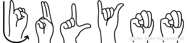 Julynn im Fingeralphabet der Deutschen Gebärdensprache