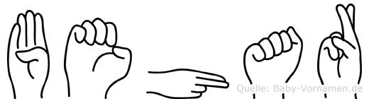 Behar in Fingersprache für Gehörlose