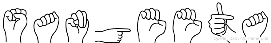 Sangeeta im Fingeralphabet der Deutschen Gebärdensprache