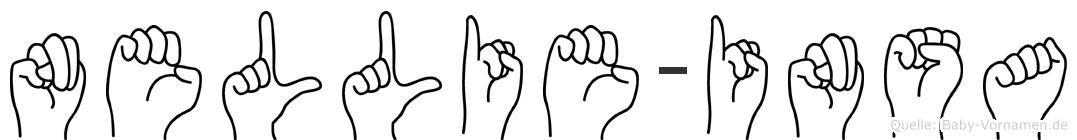 Nellie-Insa im Fingeralphabet der Deutschen Gebärdensprache