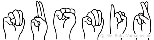 Nusmir in Fingersprache für Gehörlose