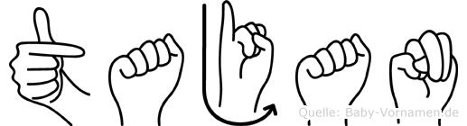 Tajan im Fingeralphabet der Deutschen Gebärdensprache