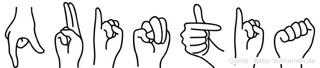 Quintia in Fingersprache für Gehörlose