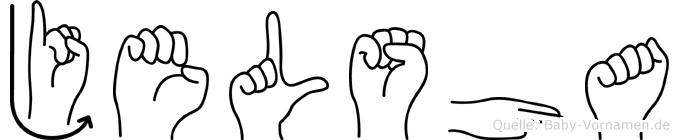 Jelsha im Fingeralphabet der Deutschen Gebärdensprache