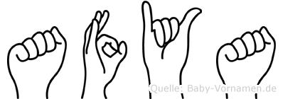 Afya im Fingeralphabet der Deutschen Gebärdensprache