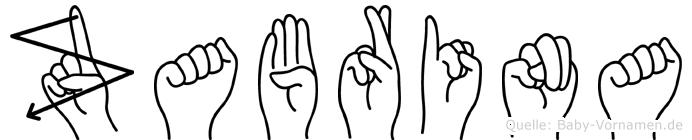 Zabrina im Fingeralphabet der Deutschen Gebärdensprache