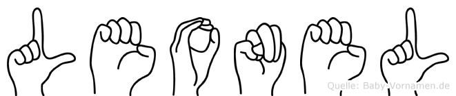 Leonel im Fingeralphabet der Deutschen Gebärdensprache