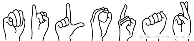 Milodar im Fingeralphabet der Deutschen Gebärdensprache