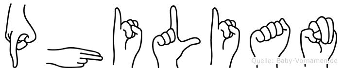 Philian in Fingersprache für Gehörlose
