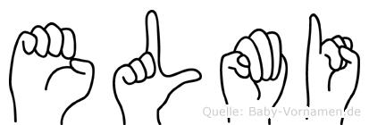 Elmi im Fingeralphabet der Deutschen Gebärdensprache