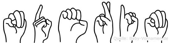 Nderim in Fingersprache für Gehörlose