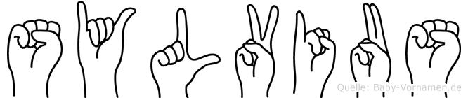 Sylvius im Fingeralphabet der Deutschen Gebärdensprache
