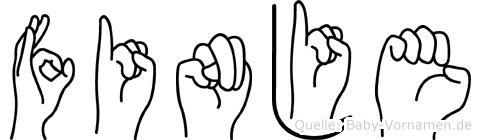 Finje in Fingersprache für Gehörlose