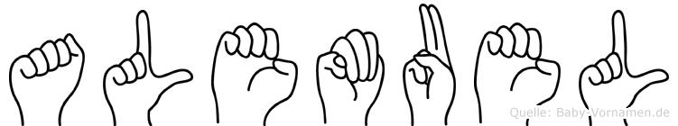 Alemuel in Fingersprache für Gehörlose